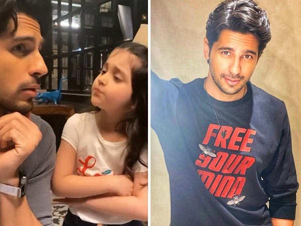 Sidharth Malhotra shares a cute video with little Kiara