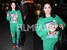 Sunny Leone makes her airport look fun and goofy