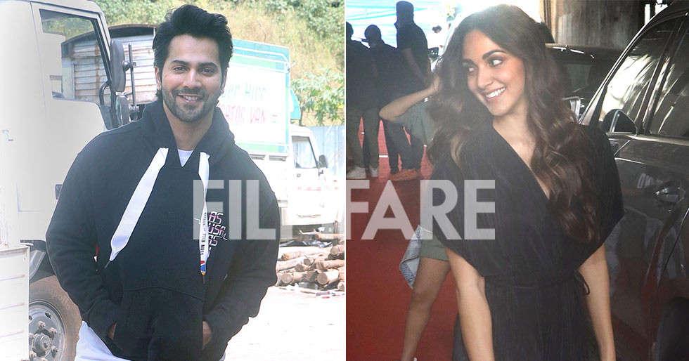 Kiara Advani and Varun Dhawan snapped post shoot of their next film