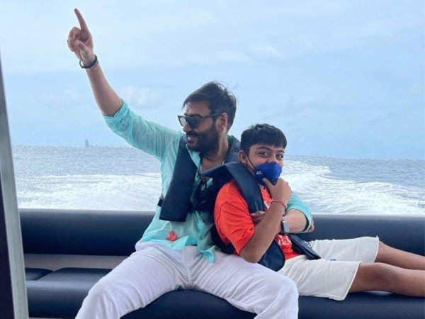 Ajay Devgn and his son Yug are bonding in the Maldives