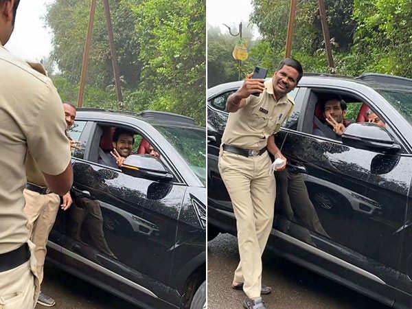 Kartik Aaryan's sweet moment with a cop in Panchgani