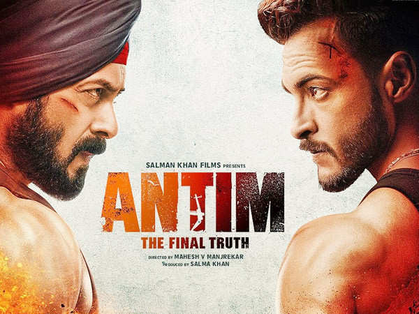 The first poster of Salman Khan and Aayush Sharma's Antim is out now