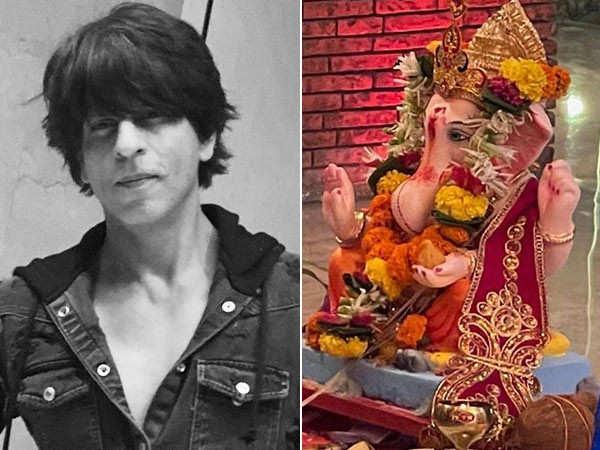 Shah Rukh Khan bids adieu to Lord Ganesha