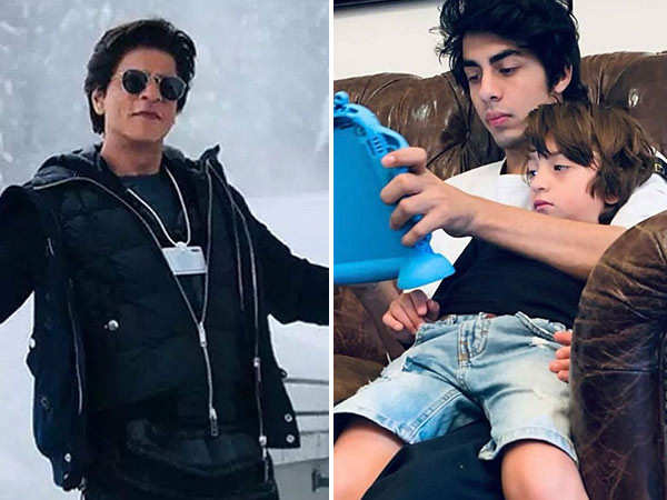 Shah Rukh Khan reacts to Aryan Khan and AbRam's picture