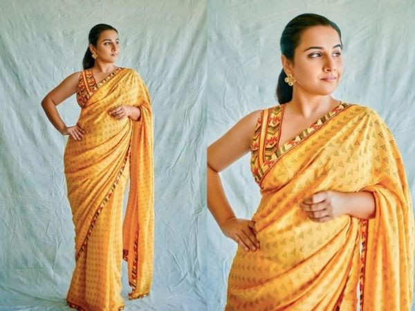 Vidya Balan's bright yellow saree is perfect for the season