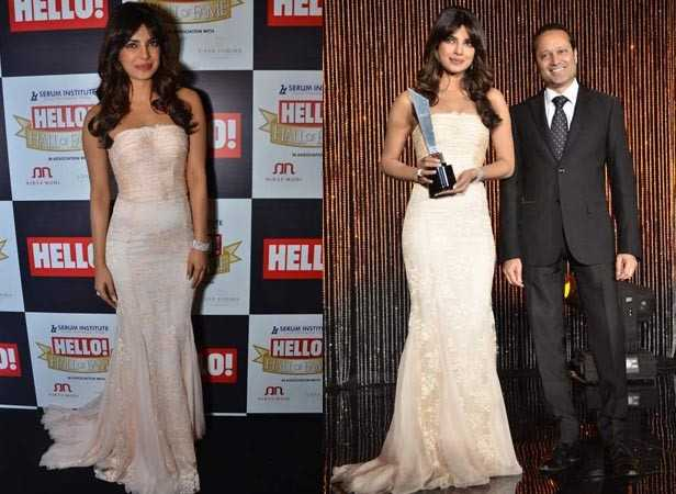 Priyanka Chopra with Vineet Jain, MD of Times Group