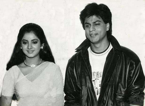 Shah Rukh Khan with Late Divya Bharti