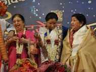 Lata Mangeshkar and Asha Bhosle spotted together