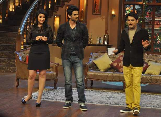 Parineeti Chopra and Sushant Singh Rajput with Kapil