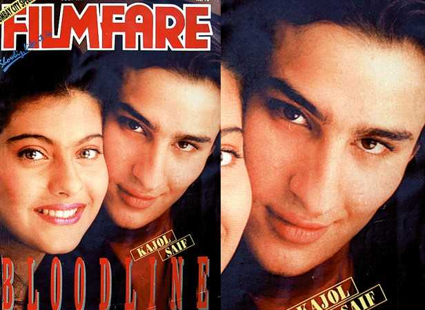 Saif Ali Khan with Kajol