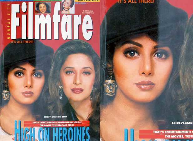 With Madhuri Dixit on the May 1996 cover