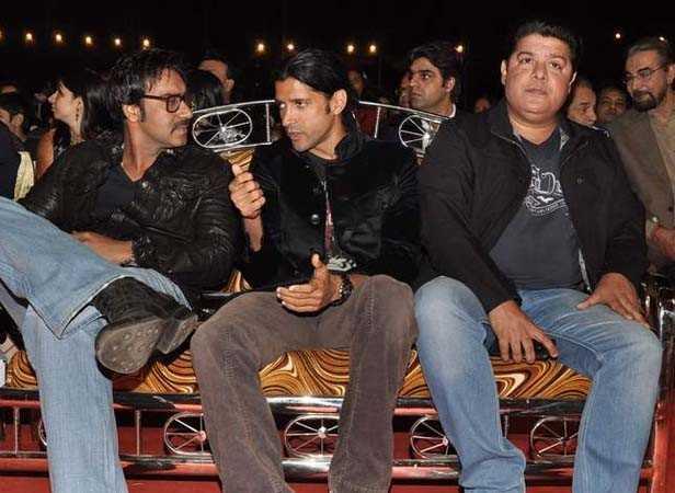 Ajay Devgn, Farhan Akhtar and Sajid Khan