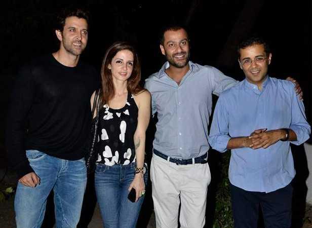 Hrithik and Susanne Roshan,Abhishek Kapoor and Chetan Bhagat