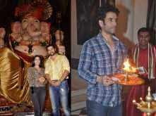 Aftab and Tusshar worship Lord Ganesha