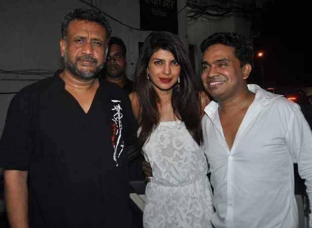 Priyanka with Anubhav Sinha and Mushtaq Shiekh