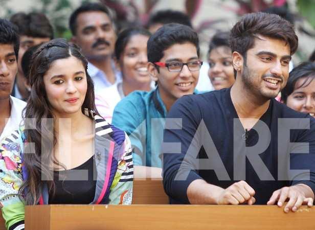 Alia & Arjun attend college | Filmfare.com