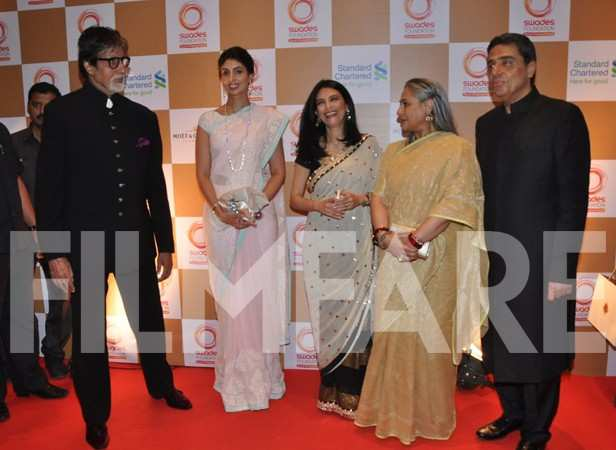 Amitabh Bachchan, Shweta Nanda, Zerina Screwvala, Jaya Bachchan and Ronnie Screwvala