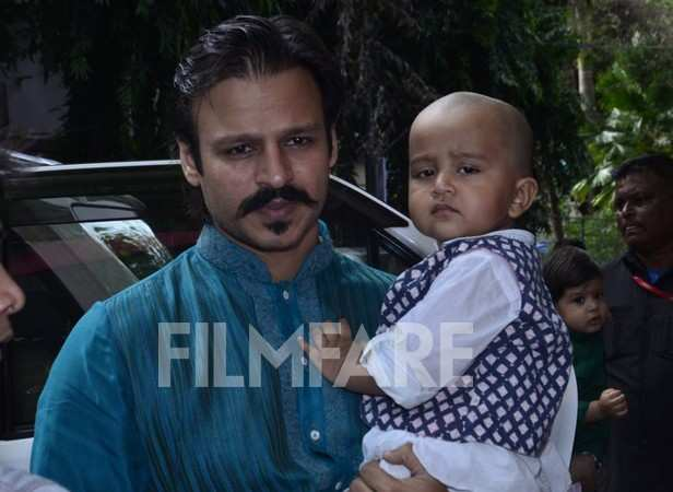 Vivek Oberoi with son