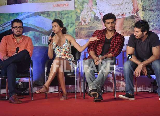 Dinesh Vijayan, Deepika Padukone, Arjun Kapoor and Homi Adajania