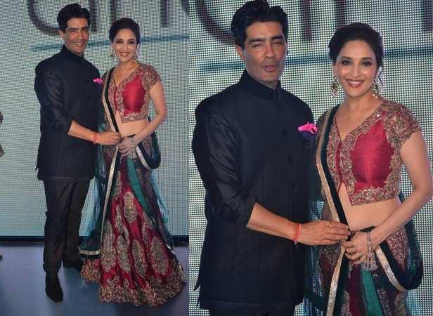 Manish Malhotra and Madhuri Dixit Nene