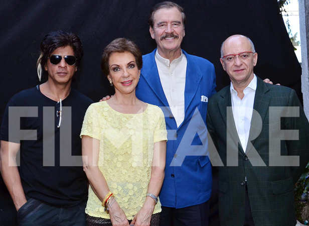 SRK with former president of Mexico Vicente Fox
