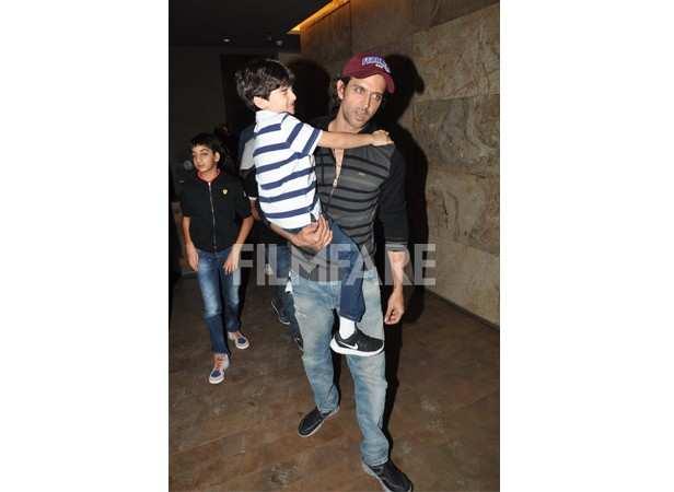 Hrithik Roshan with sons