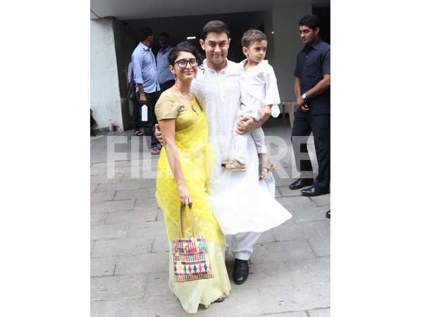 Kiran Rao and Aamir Khan with son Azad