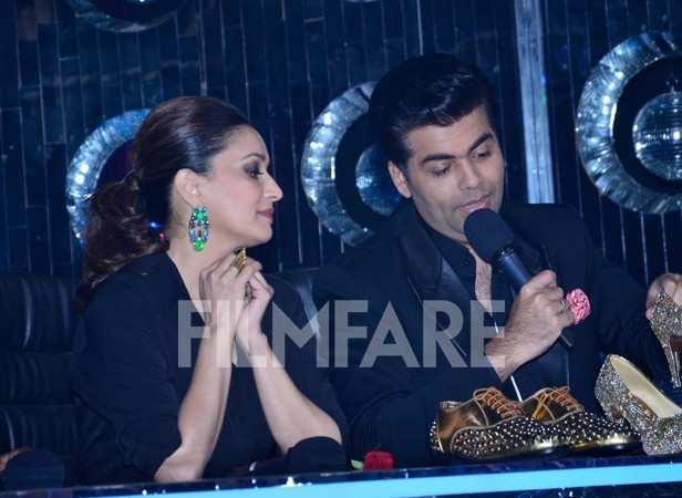 Madhuri Dixit Nene and Karan Johar