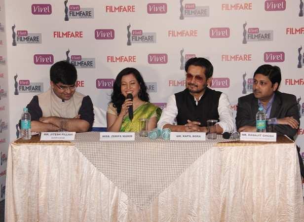 Zerifa Wahid and Kopil Bora with Mr. Jitesh Pillaai (Editor, Filmfare) and Mr. Ranajit Ghosh (Head of Media, PR and Digital, Personal Care Products Business, ITC Ltd)