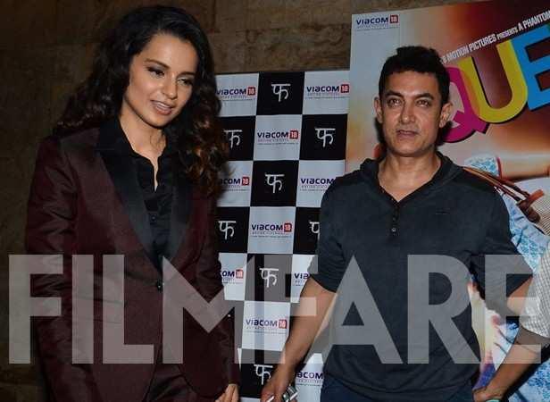 Kangana Ranaut and Aamir Khan