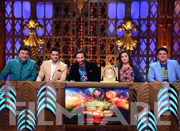 Anu Malik, Riteish Deshmukh, Saif Ali Khan, Farah Khan and Sajid Khan