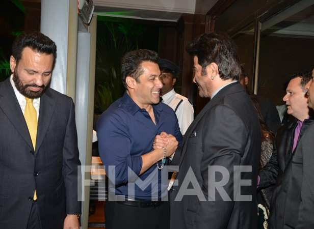 dilip kumar hrithik ajay at arpitas wedding reception