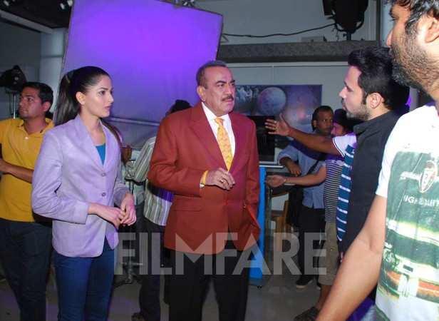 Emraan Hashmi on the set of CID   filmfare com