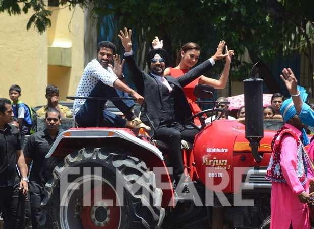 Prabhu Deva, Akshay Kumar and Amy Jackson