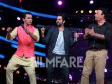 Ayushmann Khurrana on the set of a reality show