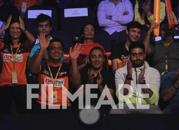 Ronnie Screwvala, Rahul Bose and Abhishek Bachchan