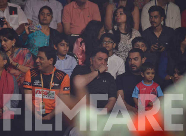 Ronnie Screwvala, Rishi Kapoor, Aamir and Azad Khan