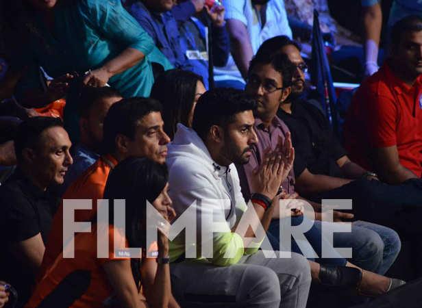 Rahul Bose, Ronnie Screwvala and Abhishek Bachchan