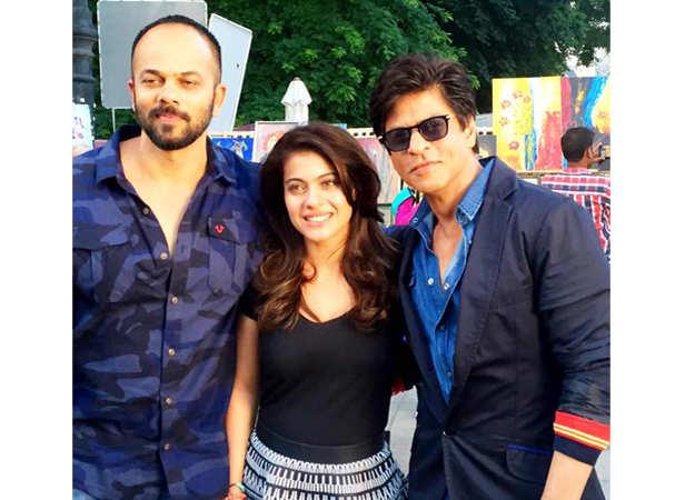 Rohit Shetty, Kajol and Shah Rukh Khan