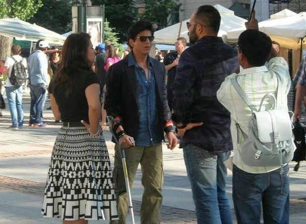 Kajol, Shah Rukh Khan and Rohit Shetty