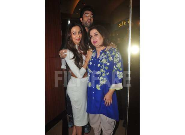 Manish Paul, Malaika Arora Khan and Farah Khan