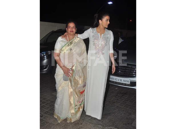 Aishwarya Rai Bachchan with mother, Brindya Rai