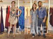 Kalki Koechlin, Sunil and Mana Shetty at a store launch