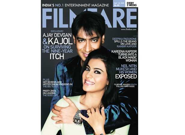 Ajay Devgn with Kajol (April 2008)