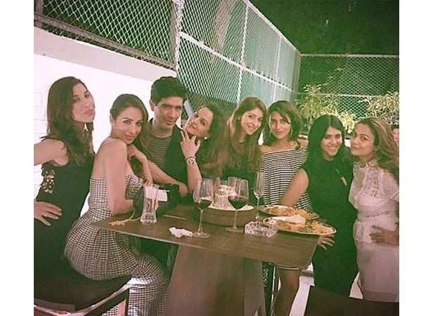 Sophie Choudry, Malaika Arora Khan, Manish Malhotra, Ekta Kapoor, Amrita Arora Ladak