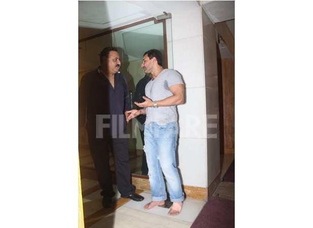 Manoj Jain and Saif Ali Khan