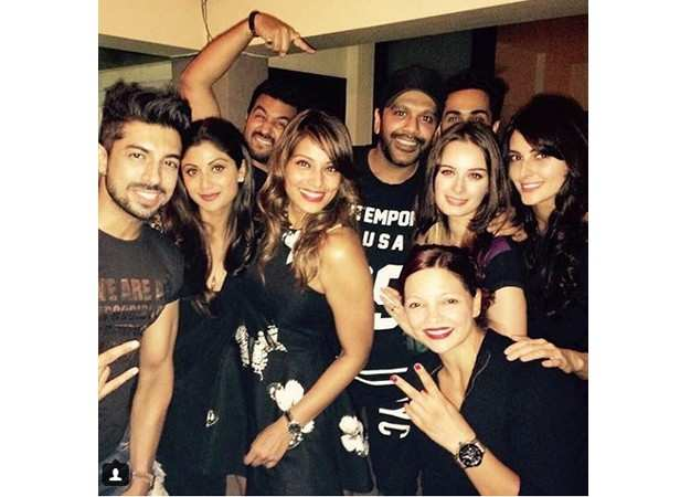 Shilpa Shetty, Raj Kundra, Bipasha Basu, Rocky S and Evelyn Sharma