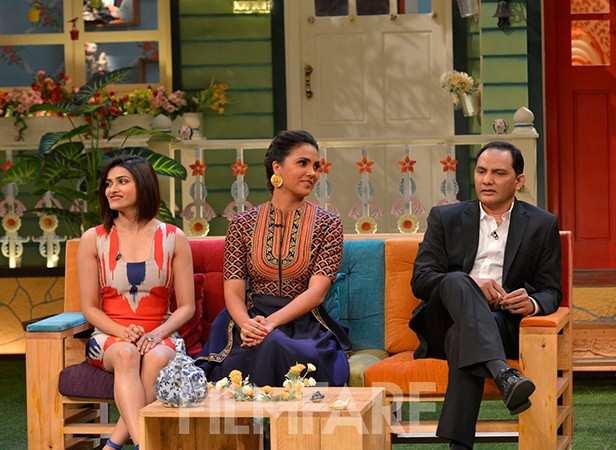 Prachi Desai, Lara Dutta and Mohammad Azharuddin