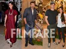 Sonam Kapoor, Sunny Deol and Bobby Deol clicked at an art show together.