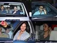 Jackie Shroff, Tabu, Tiger Shroff, Sooraj Pancholi, Athiya Shetty attend the Baaghi screening
